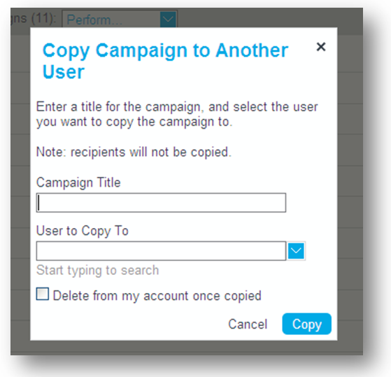 Enter Copied Campaign Name