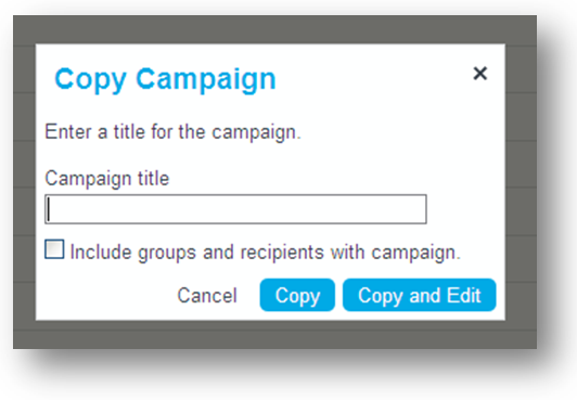 Enter Campaign Title & Copy
