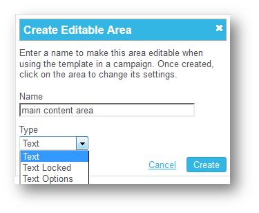 Content area type