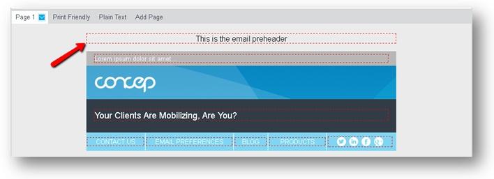 email preheader